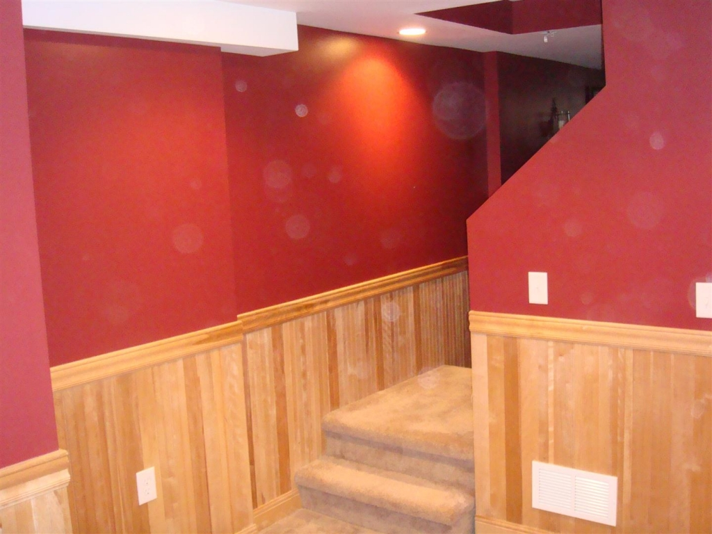 examples of a refinished basement