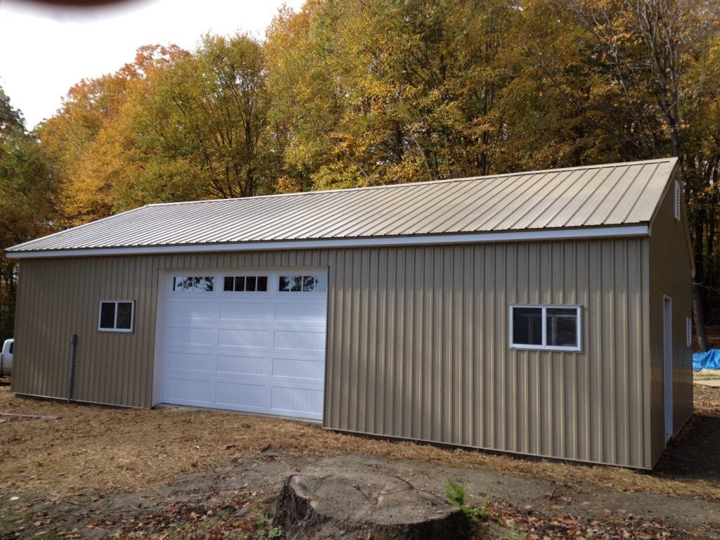 Garage buildings ac wood berkshire country contracting for Garage building cost estimator